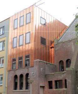 koperen gevelbekleding Chasséhotel Amsterdam